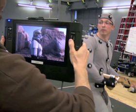Litt mindre glamorøst bak scenene i VR-innspillingen...