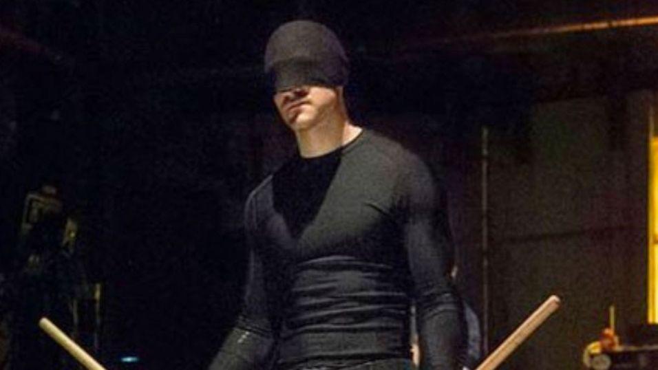 Selv om Londons nye helt kalles for «Bromley Batman», virker det som han ligner mer på Daredevil. (Illustrasjon)