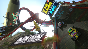 Trackmania-serien har blitt kjent for sine helsprø baner.