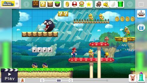 Super Mario Maker lar deg velje mellom fire Super Mario-stilartar.