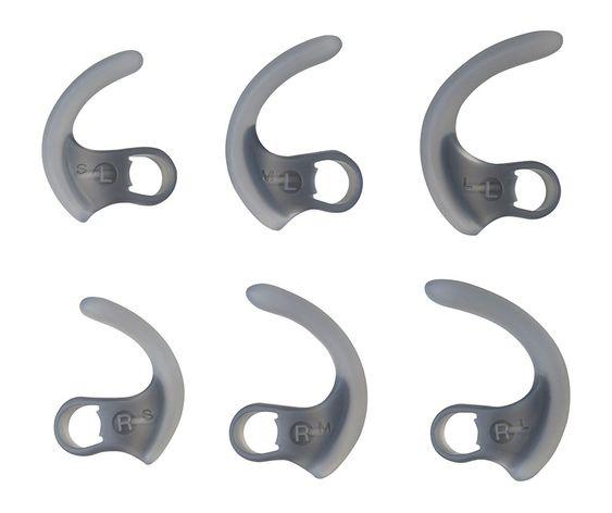 Det følger med støtter i tre størrelser, slik at proppene skal sitte godt når du trener –uansett hvordan ørene dine ser ut.