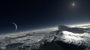 Kanskje Plutos overflate ser slik ut.