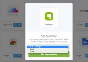 Du kan ha flere dashboard, og snart kommer også støtte for å lage grupper av brukere.