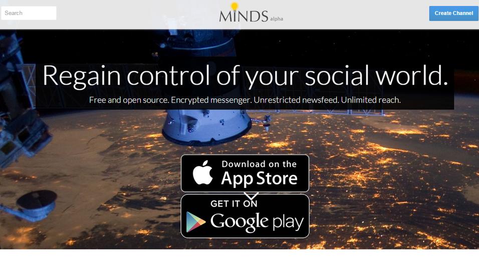 Minds.com er et nytt, sikkerhetsfokusert sosialt nettverk.
