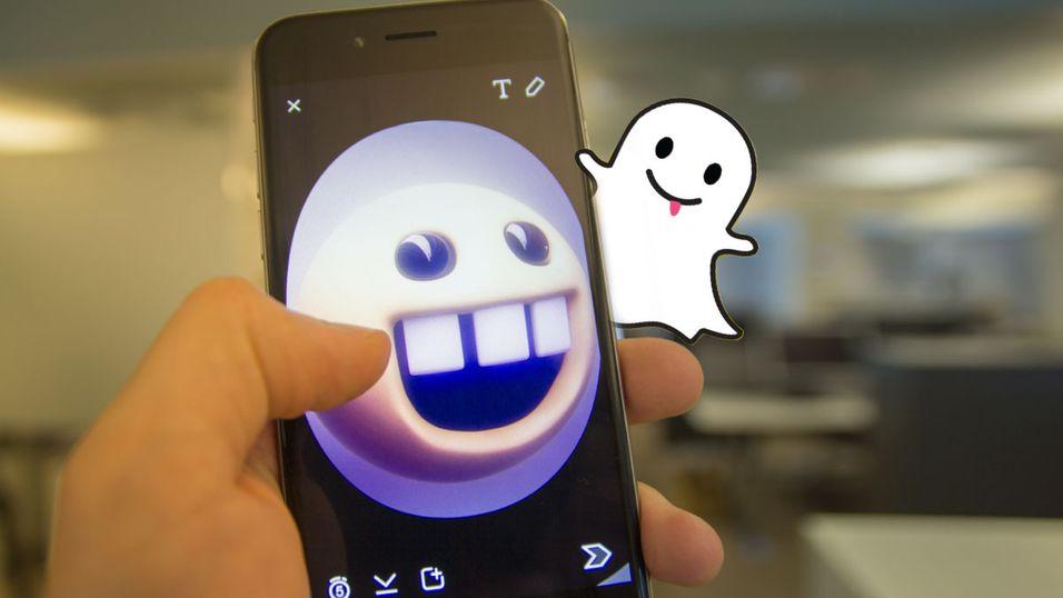 Du kan få til ganske mange kule effekter med Snapchat.