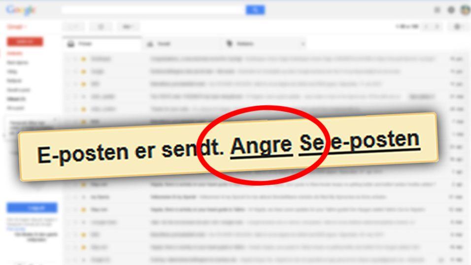 Nå kan du angre e-poster du har sendt via Gmail