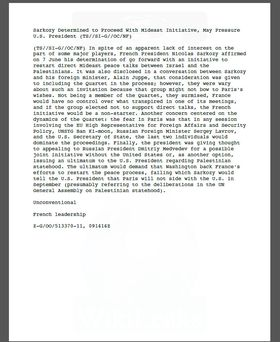 En av mange hemmeligstemplede NSA-rapporter som har blitt offentliggjort av Wikileaks.