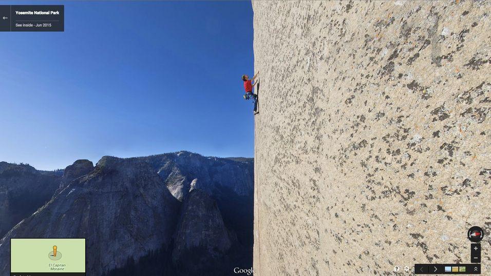 Google Street View tar deg med opp en av verdens mest kjente fjellvegger