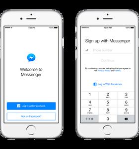 Du må gi fra deg navn og telefonnummer for å slippe inn på Messenger, men ingen kontakter, heldigivs.