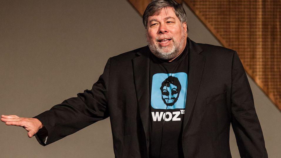 Steve Wozniak har sterke meninger om valget om å droppe hodetelefoninngangen. Her er han fotografert i en annen sammenheng.