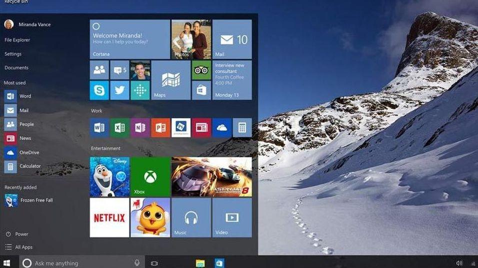 – Windows 10 vil selges på minnepinne