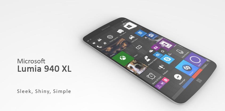 Ett av konseptbildene av Lumia 940 som har tatt rundene på nettet. Foreløpig er ingenting offisielt bekreftet om modellen(e).