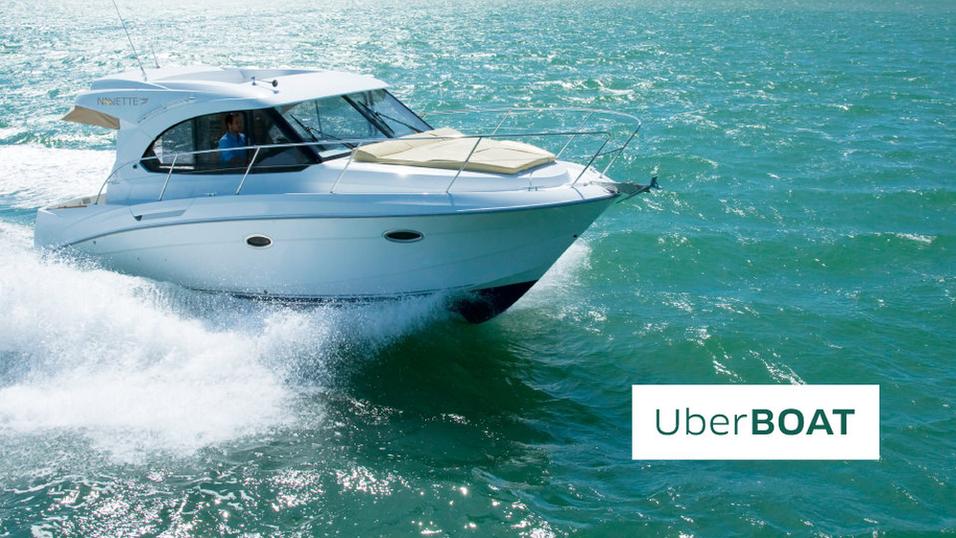 Nå har Uber begynt med båt-taxier