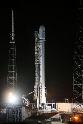 En slik rakett var det som eksploderte i forsøket.