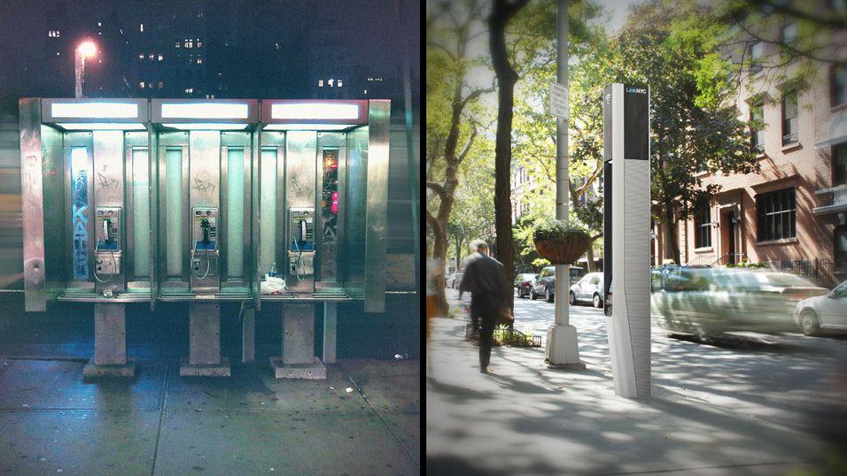 De gamle telefonkioskene byttes ut med noe litt mer moderne.