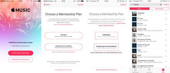 Apple Music har vært synlig i selskapets nyeste prøveprogramvare for mobil. Tjenesten er foreløpig ikke i gang, og hvilke priser den ender opp med å få er fortsatt litt usikkert.