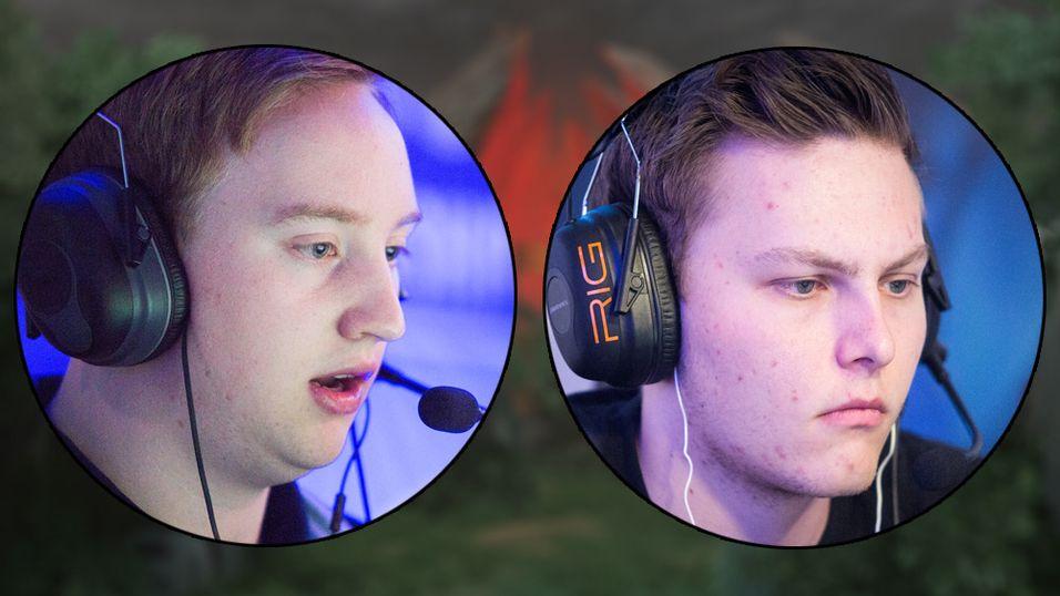 De norske Smite-spillerne Bo «Badgah» Katzenmaier (t.v) og Emil «Lawbster» Evensens er klare for å kjempe i Summer Finals.