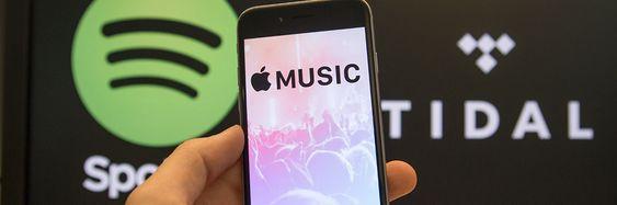 Spotify møter sterkere konkurranse fra TIDAL og Apple Music.