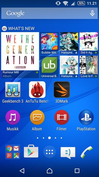 Skallet som Sony bruker er rent og enkelt, selv med mange apper på skrivebordet.