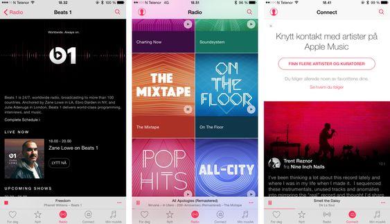 Gratisdelene av Apple Music heter Beats 1 Radio og Connect. Foreløpig får undertegnede stort sett bare lov til å «koble til» Trent Reznor.