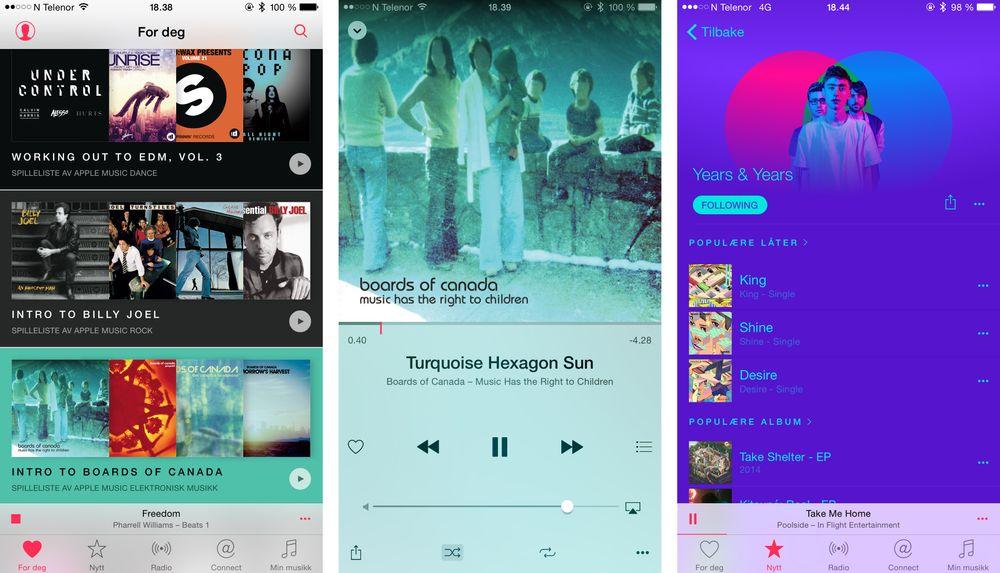Enkelte elementer kjenner vi tydelig igjen fra andre strømmetjenester. Wimp, nå Tidal, var tidlig ute med musikkmisjon og tematiske spillelister. Fra Spotify kjenner vi artistsider med fargetema fra albumgrafikk og bilder.