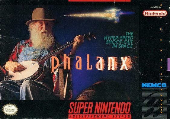 Phalanx er et raskt og heftig skrollende romskipspill. Så da er det jo betimelig å spørre seg hvor representativ en gammel mann med banjo er for spillet.