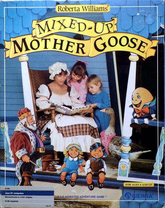 Fra badestamp til gyngestol: Her er Roberta Williams igjen, på coveret til et litt mer barnevennlig spill.