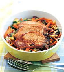 Dampkoke grønnsaker i ovn