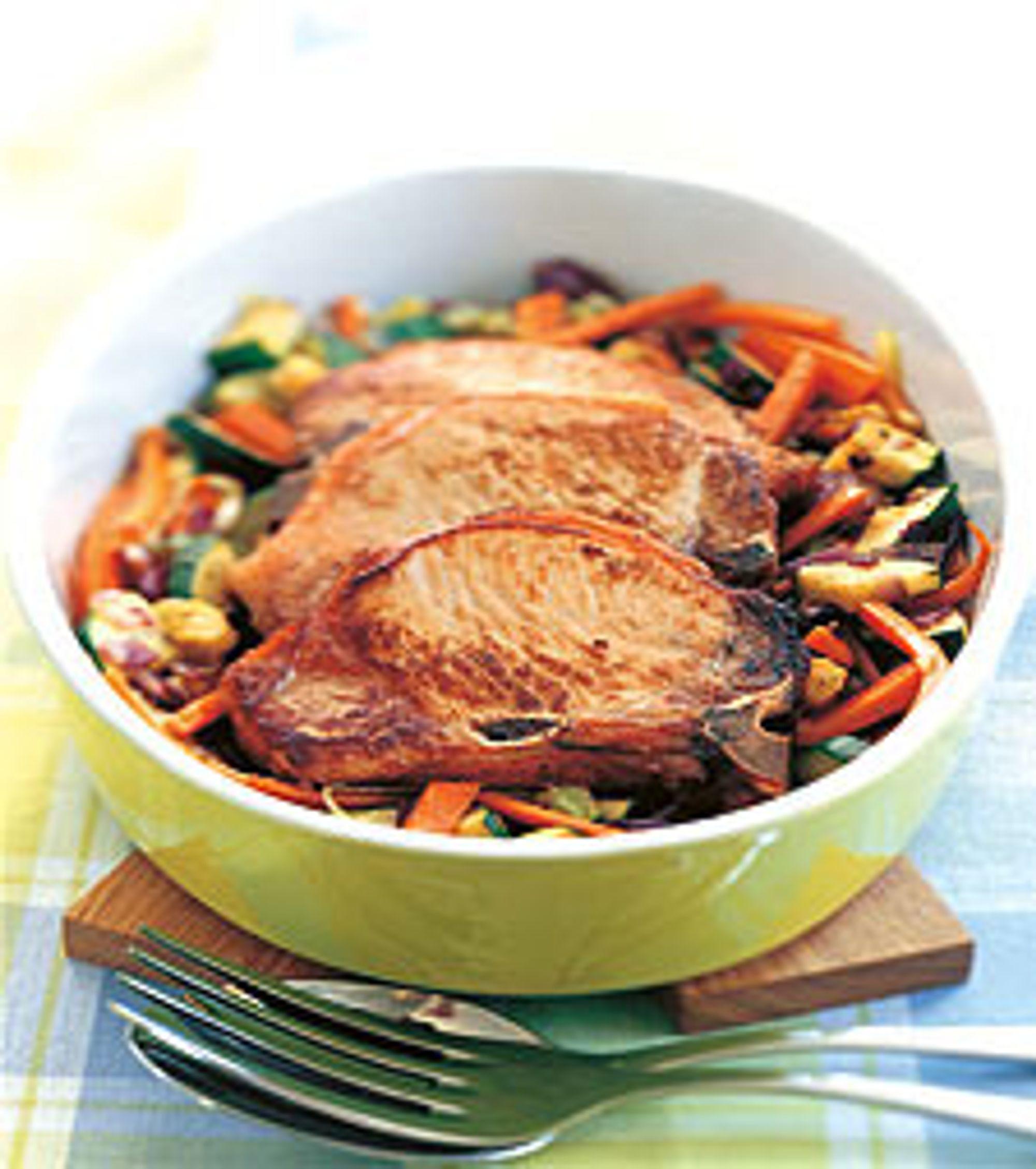 Dampe grønnsaker i ovn