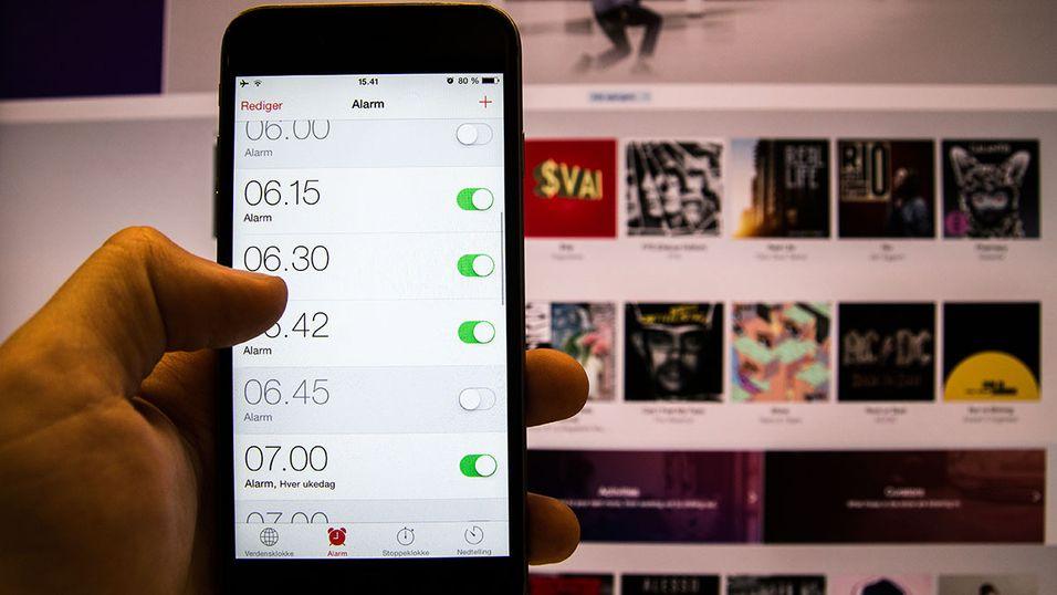 Slik får du 30 millioner låtvalg til iPhone-alarmen din