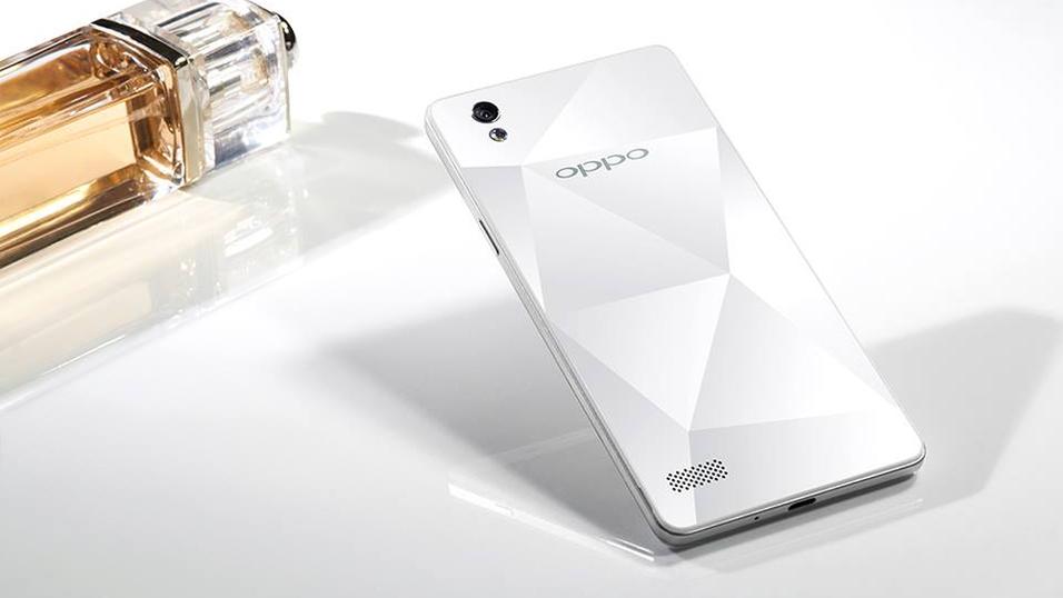 Nye Oppo Mirror 5S har diamantmønster på baksiden.