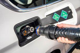 Slik ser hydrogenfyllingen ut på BMWs nye 5-serie.