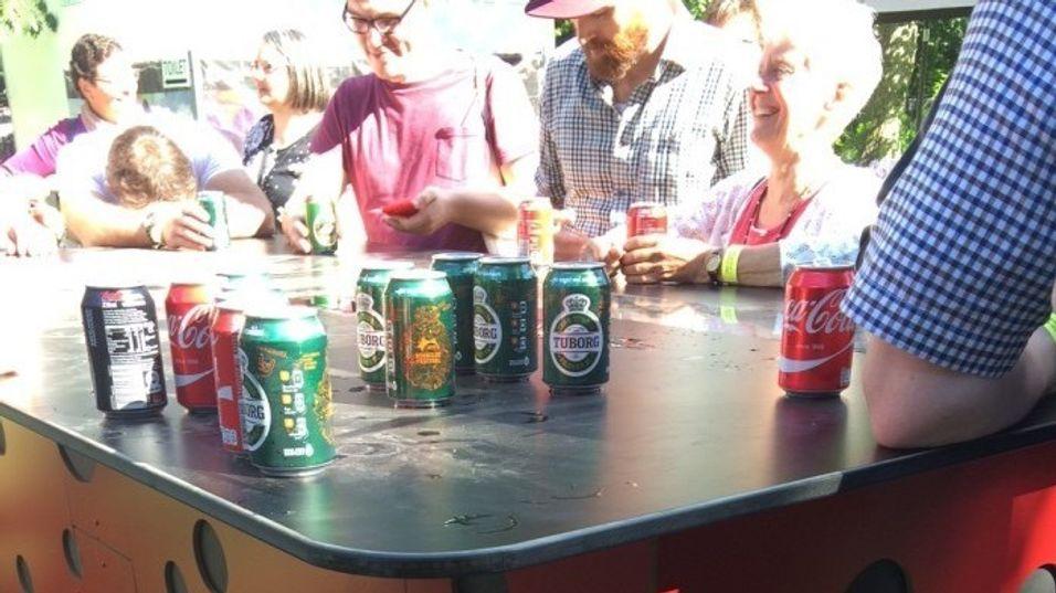 ØL: Genial oppfinnelse testet ut på Roskilde-festivalen