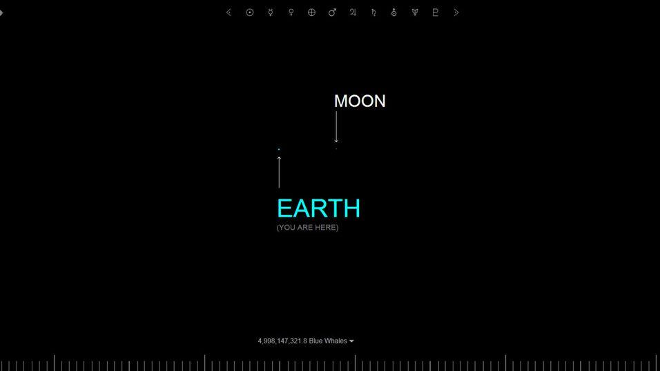 Tenk deg at Månen bare er én piksel stor ...