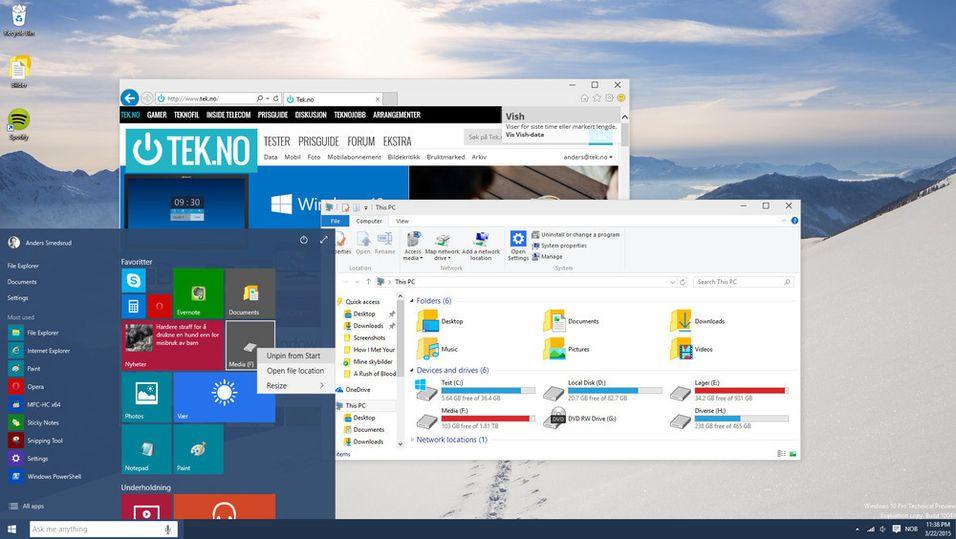 Windows 10 er ferdig. Insiders kan laste ned og prøve allerede i dag.