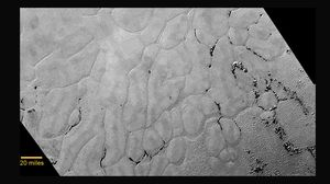 Dette bildet viser den hittil uoppdagede, digre issletten på Pluto.