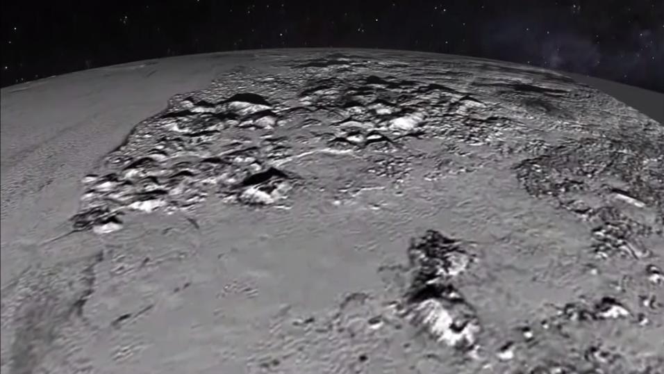 NASA lagde en animasjonsvideo som gir en følelse av å fly over Plutos overflate.