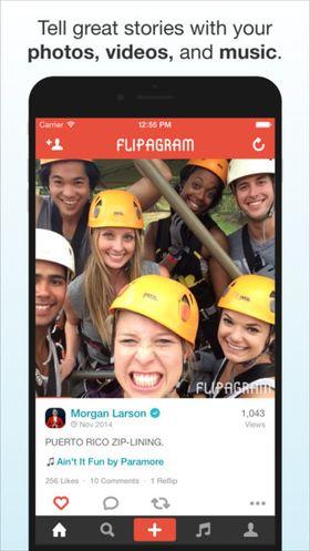 Slik kan en Flipagram-post se ut.