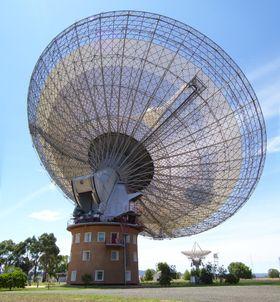 Radioteleskopet ved Parkes Observatory.