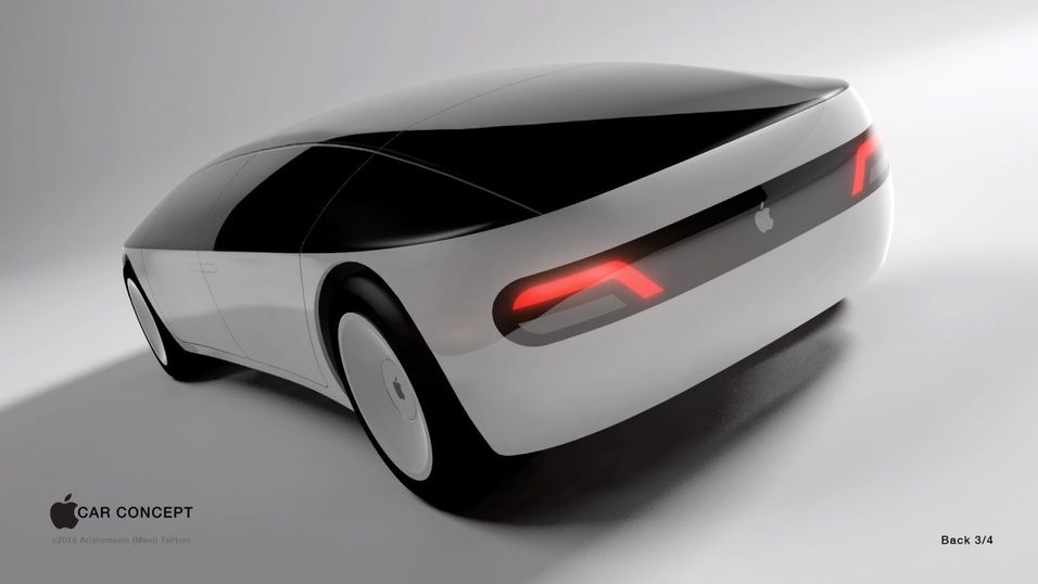 Ingen vet hvordan Apples framtidige elbil ser ut, med desigerne hos Aristomenis tror den vil se omtrent slik ut.