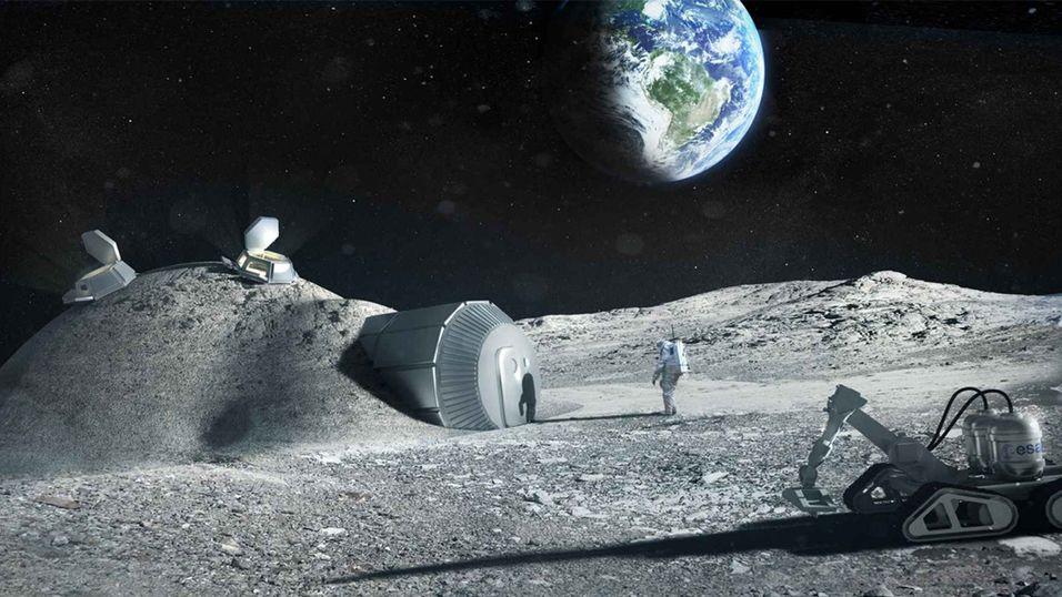 Kanskje får vi en base på Månen om 15-17 år? (Illustrasjonsbilde).