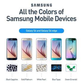 Slik illustrerer Samsung fargevalgene de tok på Galaxy S6 Edge.