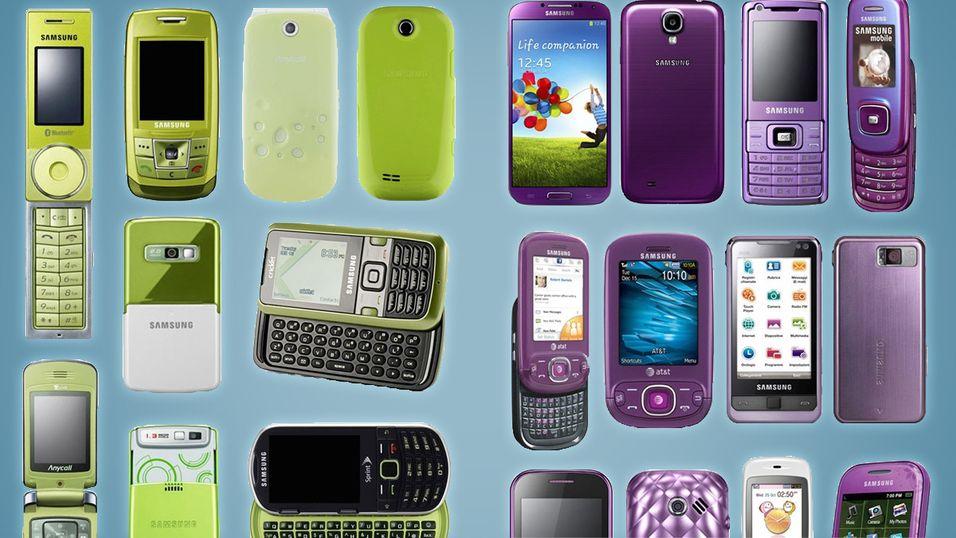 Har du eid en grønn eller lilla Samsung, kanskje?