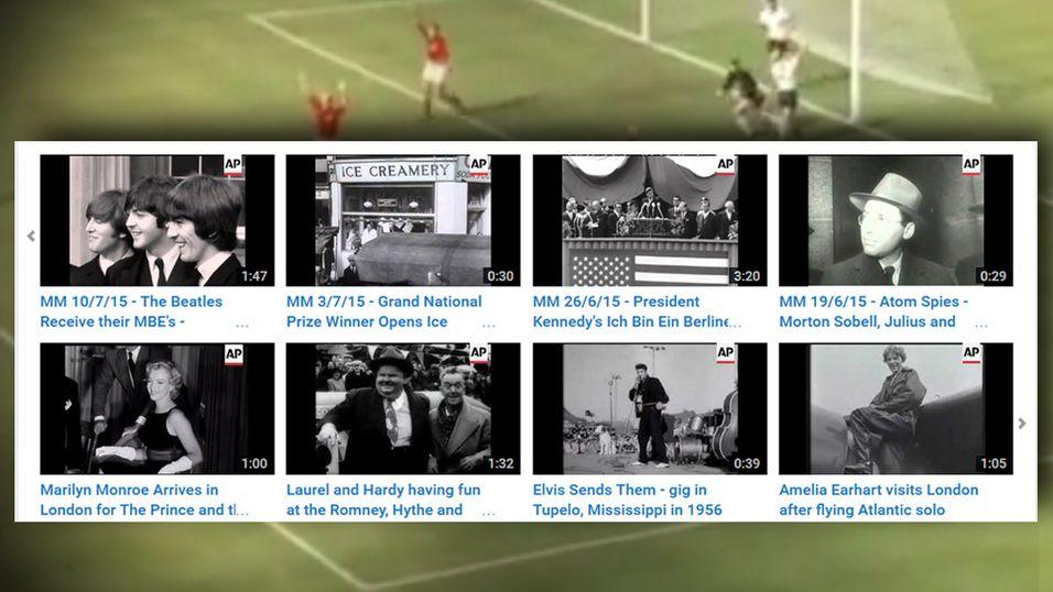 La ut 550 000 gamle nyhetsklipp på YouTube