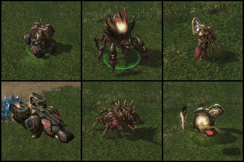 De nye troppene i Legacy of the Void. Cyclone, Ravager, Adept, Liberator, Lurker og Disruptor.