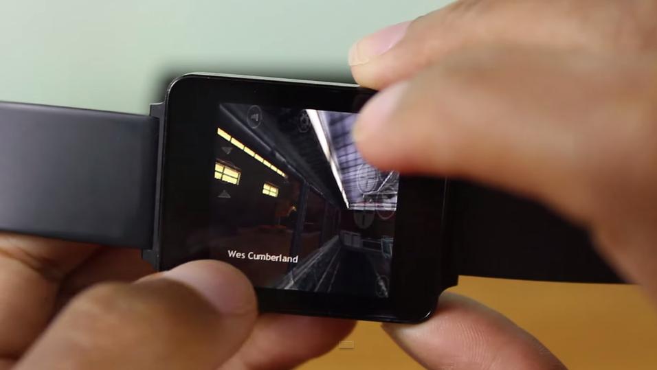 Her kjører han spillklassikeren Half-Life på en Android-smartklokke