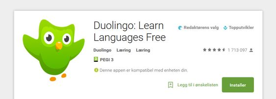 Last ned Duolingo i Google Play eller i Apple App Store.