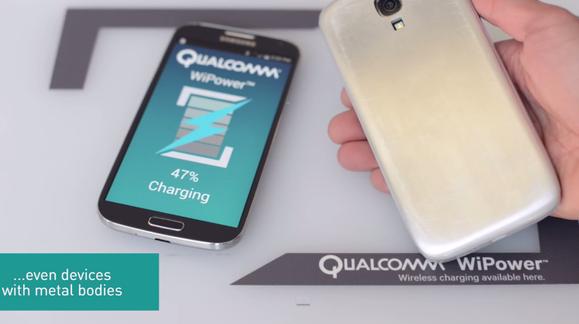 Qualcomm har utviklet ny teknologi for trådløs lading av metallmobiler