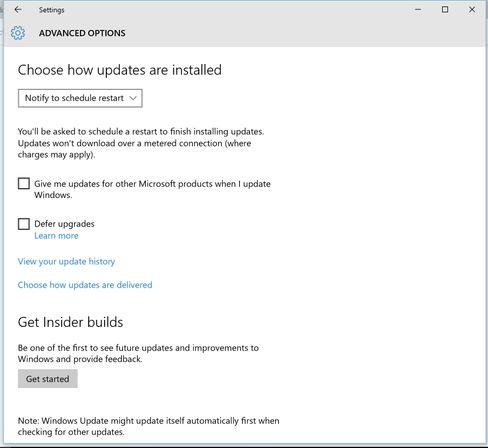 Du får gjøre noen oppdateringsvalg selv, men de viktige oppdateringene lar seg ikke hoppe over med Windows 10.