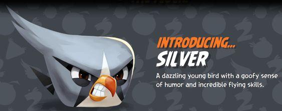 Silver er så vidt vi kan se den eneste nye Angry Birds-fuglen.